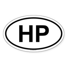 HP Oval Decal