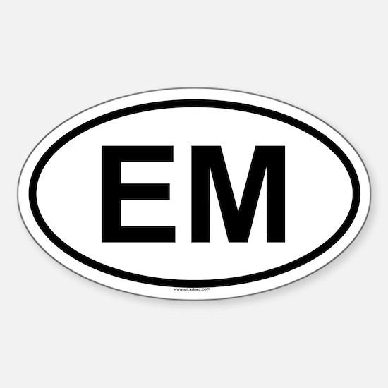 EM Oval Decal