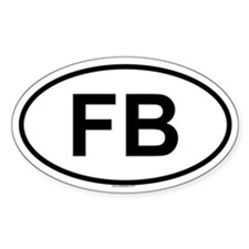FB Oval Decal