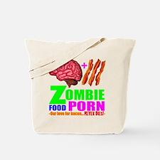 Zombie Food Porn Tote Bag