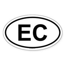 EC Oval Decal