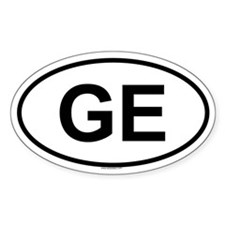 GE Oval Decal