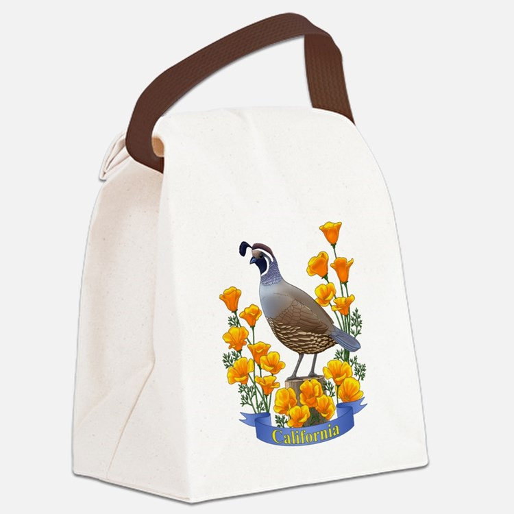 Cute California the golden state Canvas Lunch Bag