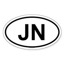 JN Oval Decal