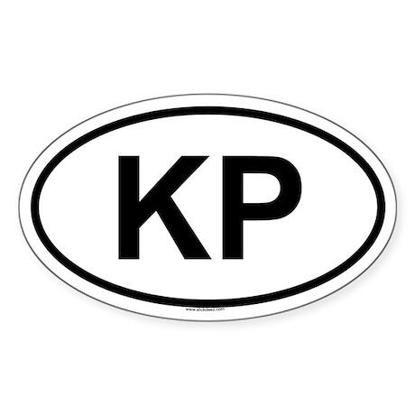 KP Oval Sticker