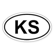 KS Oval Decal