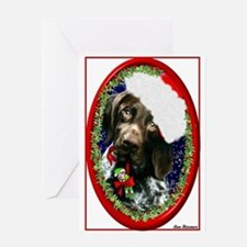 GSP oval frame Greeting Card