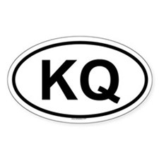 KQ Oval Decal