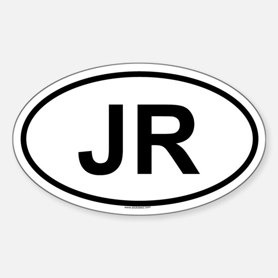 JR Oval Decal