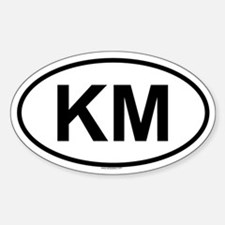 KM Oval Decal