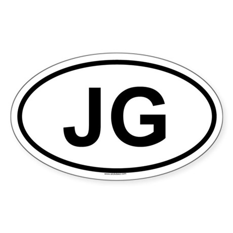 JG Oval Sticker