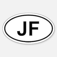 JF Oval Bumper Stickers