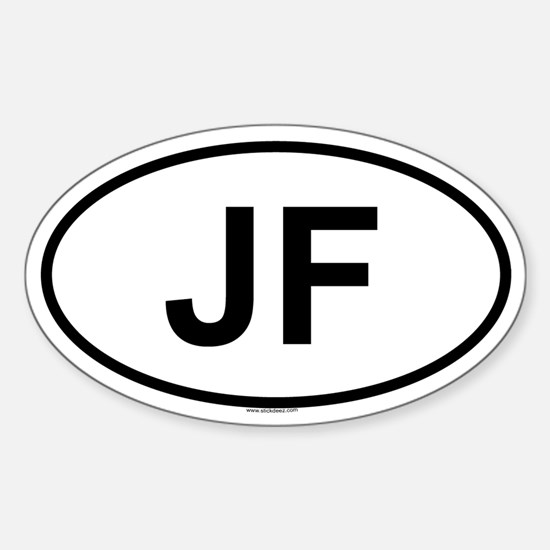JF Oval Decal