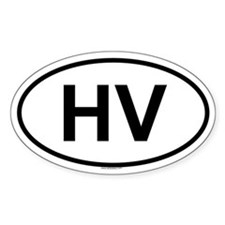 HV Oval Bumper Stickers