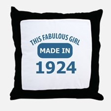 This Fabulous Girl Made In 1924 Throw Pillow