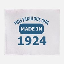 This Fabulous Girl Made In 1924 Throw Blanket