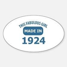 This Fabulous Girl Made In 1924 Decal