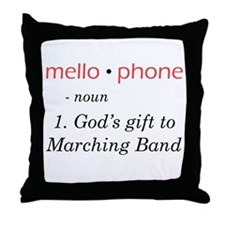 Definition of Mellophone Throw Pillow