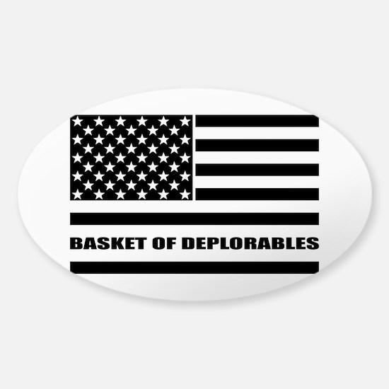 Basket of Deplorables Sticker (Oval)