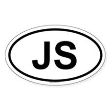 JS Oval Decal