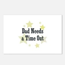 Dad Needs a Time Out Postcards (Package of 8)