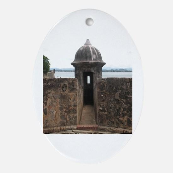 Funny Puerto rico el morro Oval Ornament