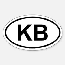 KB Oval Decal