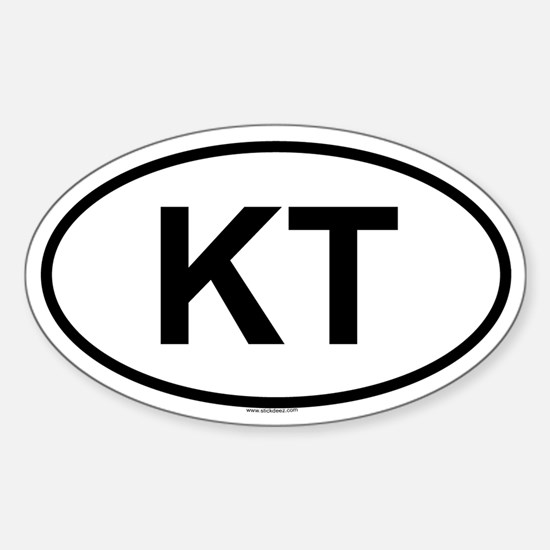 KT Oval Decal