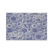 Blue flowers dishwasher magne Rectangle Magnet