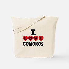 I Love Comoros Tote Bag