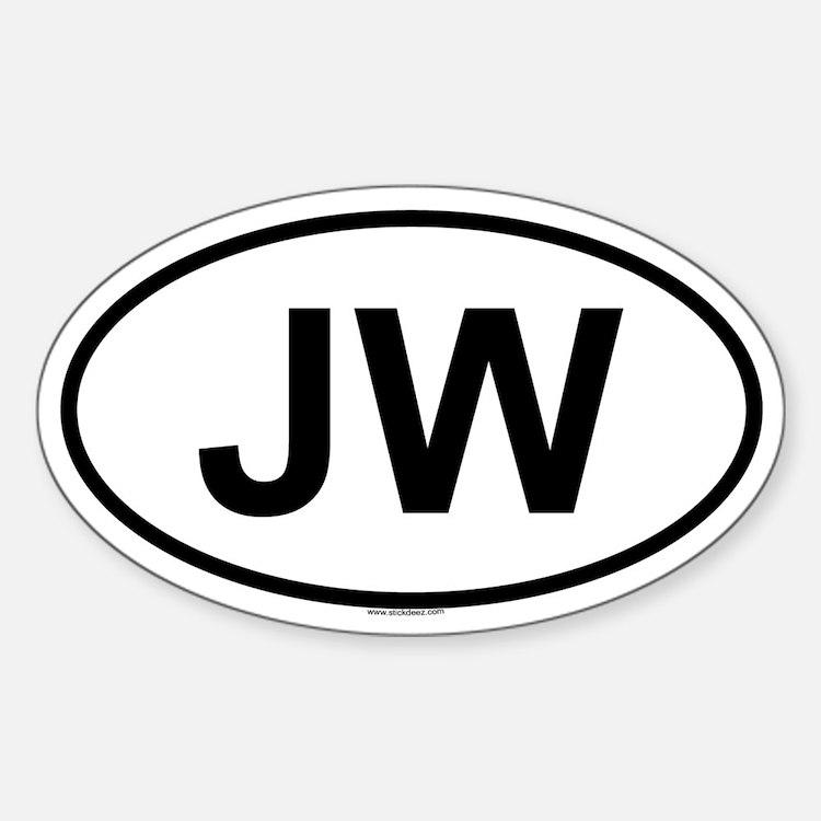 JW Oval Decal
