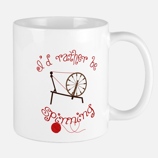 Spinning Yarn - I'd Rather Be Spinning Mugs