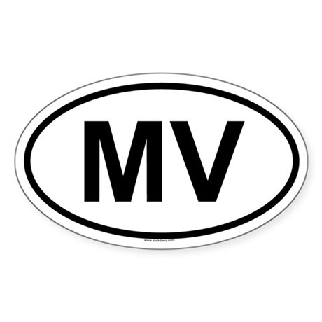 MV Oval Sticker