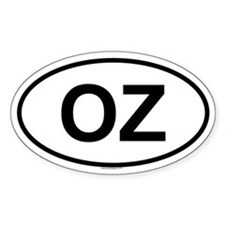 OZ Oval Decal