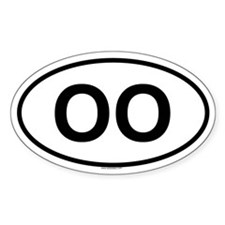 OO Oval Decal
