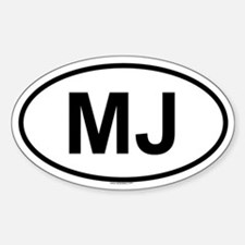 MJ Oval Decal