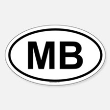 MB Oval Decal