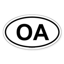 3-OA Oval Decal