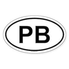 PB Oval Decal