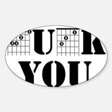 f chord uck you guitar tabs music funny gu Decal