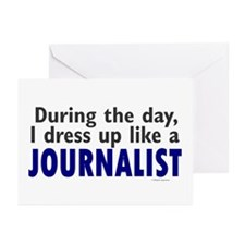 Dress Up Like A Journalist Greeting Cards (Pk of 1