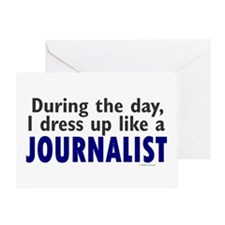Dress Up Like A Journalist Greeting Card