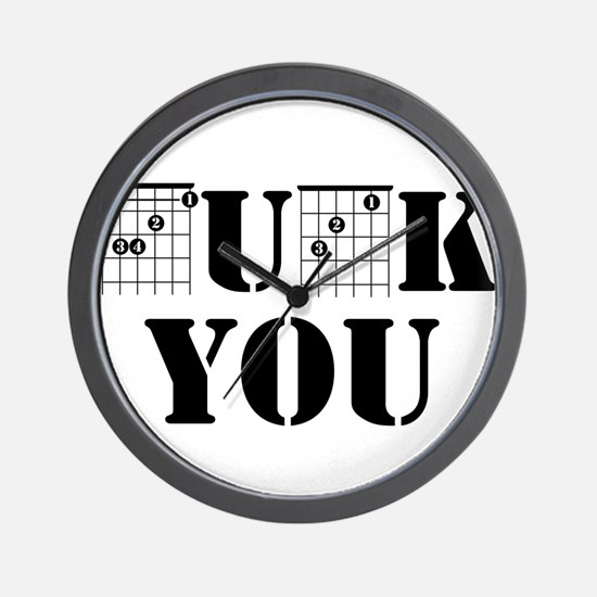 f chord uck you guitar tabs music funny Wall Clock
