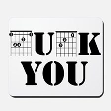 f chord uck you guitar tabs music funny Mousepad