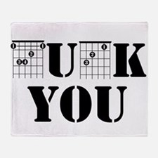 f chord uck you guitar tabs music fu Throw Blanket