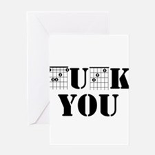 f chord uck you guitar tabs music f Greeting Cards