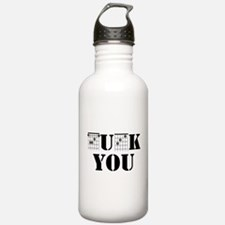 f chord uck you guitar Water Bottle