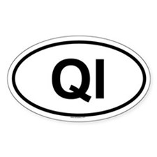QI Oval Decal