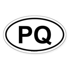 PQ Oval Decal