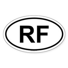 RF Oval Decal
